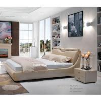 China High Quality King Size Upholstered Synthetic Leather Bed Frame in Smooth Modern Elegant Design wholesale