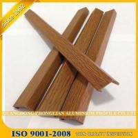 China Aluminium Extrusion Press Line profile wooden grained coating color OEM for Door Curtain Wall Ceilin on sale