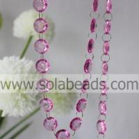 China Chandelier 6*24*24MM Acrylic Ring Bead Trim wholesale