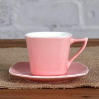 China 3OZ pink cup and saucer wholesale