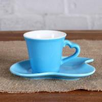 China 3OZ Blue Sweet love cup and saucer wholesale