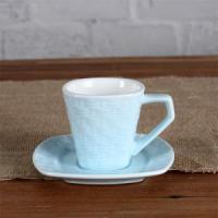China 3OZ Woven pattern cup and saucer wholesale