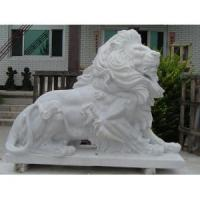 China Life Size White Marble Lion statue for sale wholesale