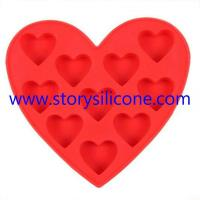 Buy cheap dishwasher-safe Heart Silicone Tray from wholesalers