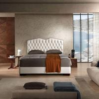 China Luxury Modern Italian Leather Queen Bed Frame wholesale