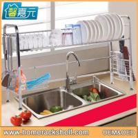 China Stainless Steel Sink Dish Drainer Storage Rack Removable Drain Rack wholesale