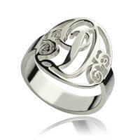 China Personalized Rings Monogram Initial Sterling Silver wholesale