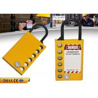Buy cheap 149mm Hasp length 47g Weight Aluminum Safety Lockout Padlocks With Six Holes from wholesalers