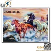 Buy cheap 3D printing 3D Animal Lenticulre Pictures of Eight Horses, A2048 from wholesalers