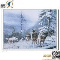Buy cheap 3D printing 3D Animal Lenticulre Pictures of Sowfield Wolfs, A2086 from wholesalers