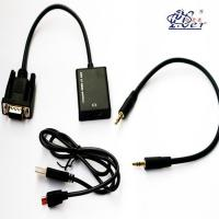 China VGA Male to HDMI Female Adapter with USB+3.5mm S-video Cable Converter wholesale