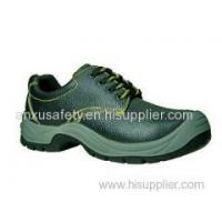 China Low Cut Safety Shoes AX03006 split emboss leather safety shoes wholesale