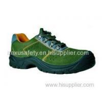 China Low Cut Safety Shoes AX03005 suede leather upper safety shoes wholesale