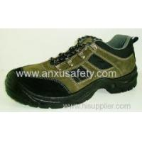 China Low Cut Safety Shoes AX03014 suede leather upper safety shoes wholesale