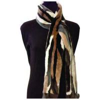 Buy cheap Fur Scarf - Carved Natural Dark Brown from wholesalers