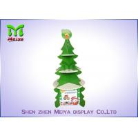 China Christmas Tree Cardboard Cupcake Stands , Round Cardboard Cake Stands With 4 Sides wholesale