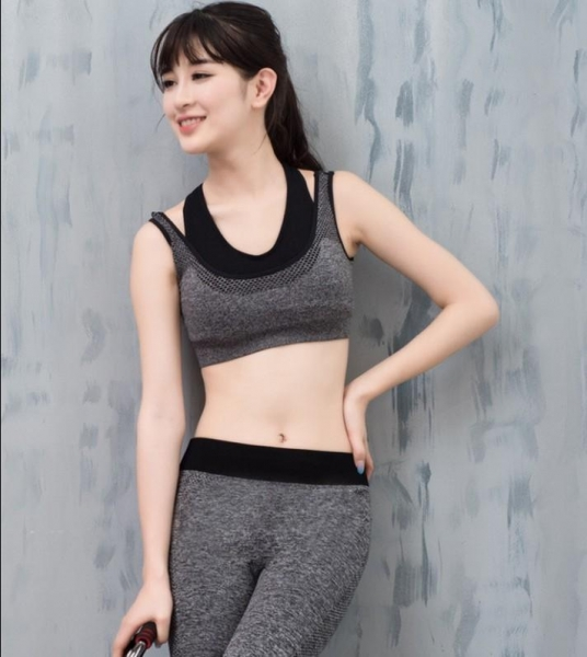 Quality Sport suit YG1089 Women s Tank Activewear Shockproof Breathable Wirefree Bra for sale