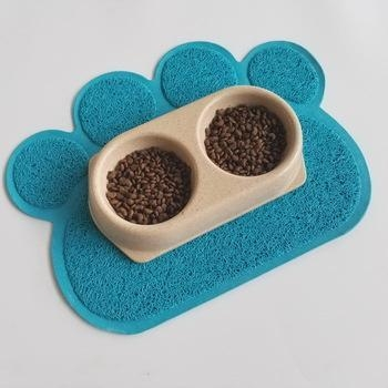 Quality hot-selling eco-friendly pet mat with paw shape pet litter mat litter catcher mat pet pad for sale