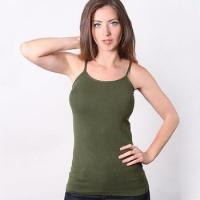 Buy cheap Solid Color Coobie Ultra Stretch One Piece Thin Strap Camisole For Girls from wholesalers