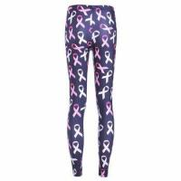 China Soft Stretchy Jersey Pink Ribbon Breast Cancer Awareness Leggings wholesale