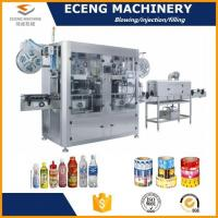 China Double Head Automatic Shrink Sleeve Labeling Applicator Machine For Bottle And Bottle Caps wholesale