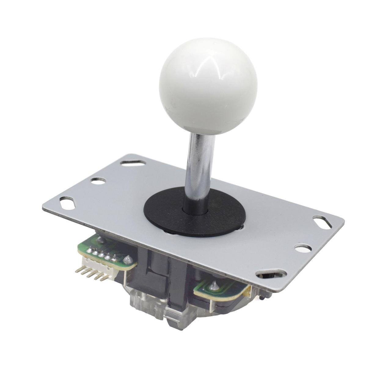 Buy cheap White Ball 5 Pin Micro Switche 8 Way Arcade Joystick Replacement from wholesalers