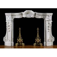 China Italian Carved White Statuary Marble Fireplace wholesale