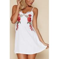Buy cheap Summer's Lace Trim Floral Print Sexy Mini Slip Dress from wholesalers