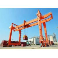 China RMG Industrial Rail Mounted Gantry Cranes Electric Trolley Double Girder on sale