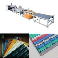 Buy cheap PVC|PC|PMMA wave|trapezoidal tiles production line from wholesalers
