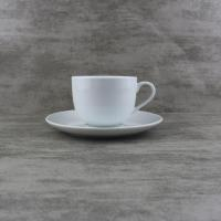 China Porcelain Dinnerware 220cc Coupe Cappuccino Custom Cups and Saucers wholesale
