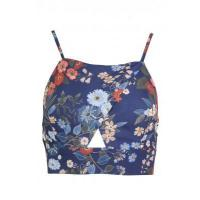 China LOVE Strap Crossover Top In Navy & Orange Floral wholesale