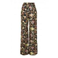 China LOVE Black Floral Trousers wholesale