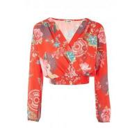China LOVE Wrap Over Top In Festival Print wholesale