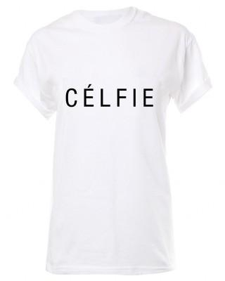 Quality LOVE White ' Celfie' Boyfriend T- Shirt As Seen On Ashley Tisdale for sale