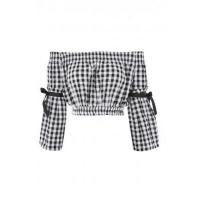 Buy cheap Love Gingham Bardot Top With Bow Detail from wholesalers