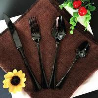 Gothic Black Cutlery Set,Flatware Sets for Wedding Event