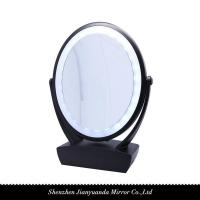 China Dual-sided LED Vanity Mirror with organizer and 1X/10X magnification on sale