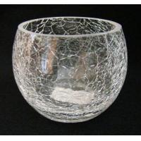 China crackle glass candle holder wholesale