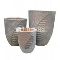 China Vietnam Round Old Stone Garden Pot and Planters on sale