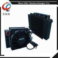 China aluminum plate fin hydraulic oil cooler with fan DC 12V/24V on sale