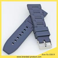 China watches replace rubberbands hot sales silicone rubber watch strap with watch clasps wholesale