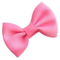 China 50 pieces 2 inch bow tie hair clips - hot pink wholesale