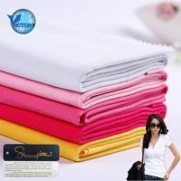 China Knitted Lining Pocketing Soft Textile 100% Pima Cotton Single Jersey Fabric for T-shirt wholesale
