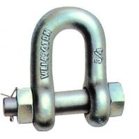 China U.S.TYPE FORGED BOLT SAFETY CHAIN SHACKLE,H.D.G. wholesale
