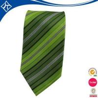China high quality custom color green stripe tie wholesale