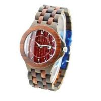 China NYS-078 Black Sandal And Red Sandal Wood Watch on sale