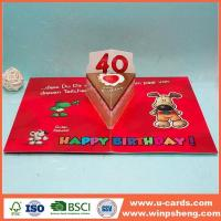 China Personalised Printable Diecut Pop Up Cards For Birthday on sale