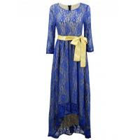 China Women's 3/4 Sleeve Lace High Low Evening Party Dress wholesale