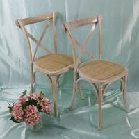 China Plastic PC Chair Product Name:Cross Back Chair With Rattan Seat on sale